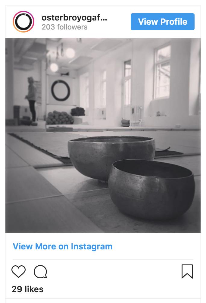 Find Østerbro Yogaforening on Instagram